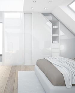 Porte de placard coulissante - Porte contemporaine et design - Espace et Mieux-être, conception et installation