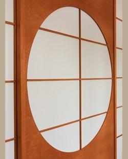 Porte de placard avec décor en bois massif - Chantiers sur mesure - Paris