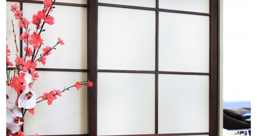 Placard avec portes coulissantes japonaises